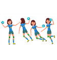 handball female player playing in vector image vector image