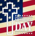 Happy Memorial Day background template Happy vector image vector image