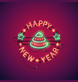 happy new year colorful neon sign vector image