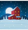 House in the snow vector image vector image