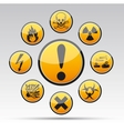 industrial warning icon stickers vector image