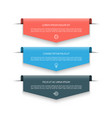 infographic banner with 3 arrows labels tags vector image