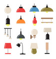 interior decoration with modern lamps and vector image vector image