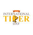 International tiger day poster design