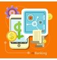 Internet Online Banking Concept vector image vector image