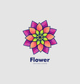 logo flower gradient colorful style vector image vector image