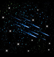 Meteor in the night sky stars background