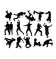 modern dancer silhouette vector image vector image