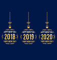new year graphic elements for years 2018 - 2020 vector image