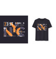 new york city urban graphic t-shirt design vector image vector image