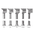 old column architecture vector image