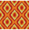orange Wild green and red Ikat Seamless Background vector image vector image