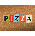 Pizza Concept vector image vector image