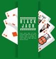 poker black jack cards casino deck gambling vector image vector image
