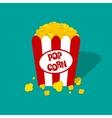Popcorn box icon vector image vector image