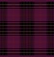 purple tartan plaid scottish pattern vector image vector image