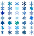 random snowflakes set vector image