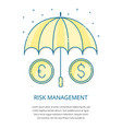 risk management logo vector image