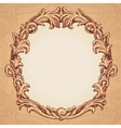 round frame in vintage style vector image vector image