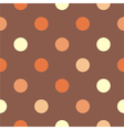 Seamless brown polka dots background