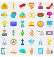 seminar icons set cartoon style vector image vector image