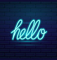 set of fashion neon sign night bright signboard vector image vector image