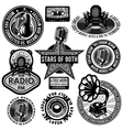 set of retro badges templates gramofon vector image vector image