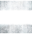 Silver Christmas winter background with snowflake vector image