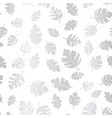 silver foil leaves seamless background vector image