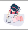 study from home vector image vector image