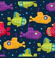 submarine pattern on a dark vector image