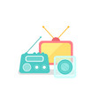television and radio broadcasting mass media vector image