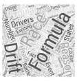 The Popularity of Formula D Racing Word Cloud vector image vector image