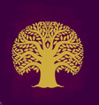 Tree symbol Asia style vector image vector image