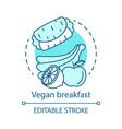 Vegan breakfast healthy nutrition concept icon