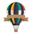 vintage style aerostat with ribbon banner vector image vector image