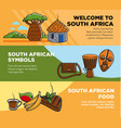 welcome to south africa promotional travel agency vector image