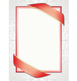 white background with red ribbons vector image vector image