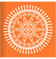 white mandala orange background image vector image vector image
