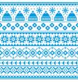 winter christmas fair isle knit seamless pattern vector image vector image