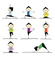 Woman practicing yoga vector | Price: 1 Credit (USD $1)