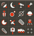 Icons space in flat style color set 2 vector image
