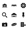 9 detail icons vector image vector image