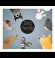 Animal background with dogs vector image vector image