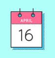april calendar icon vector image