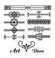 art deco vignette vintage ornament abstract vector image vector image