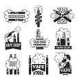 badges and labels with of vapor from vector image vector image