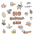 Big autumn sale poster animals and plants vector image vector image