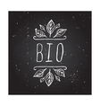 Bio - product label on chalkboard vector image