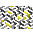 black white and yellow maze labyrinth endless vector image